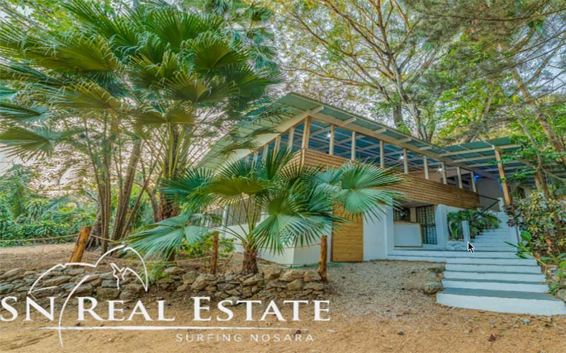 tropical mountain house